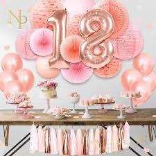 Nicro Sweet 16 18 <b>21th</b> Happy Birthday <b>Party</b> Decoration 37 <b>pcs</b>/<b>set</b> ...