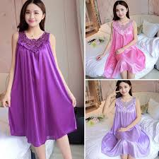 <b>Women Nightgown Sexy</b> Lingerie Robe Dress Silk Babydoll ...