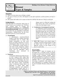 different types of resumes template different types of resumes