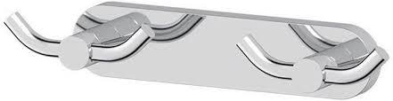 <b>Планка с 2-мя двойными</b> крючками 23 cm (хром) (ARTWELLE ...