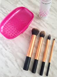 i normally use baby shoo or anti bacterial soap to clean my brushes and they are