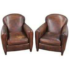 pair of art deco style leather club chairs 1 art deco era furniture