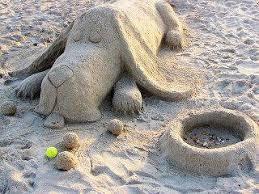 Ένα Basset από άμμο...
