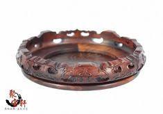 Jade vase rotating mahogany base solid wood carving <b>handicraft</b> ...