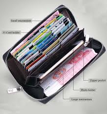 Mens Credit Card Holder <b>Cow Leather</b> Long Clutch Bags ...