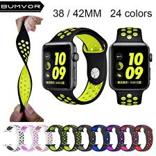 <b>BUMVOR</b> sport <b>Silicone band strap for</b> apple watch nike 44/40/MM ...