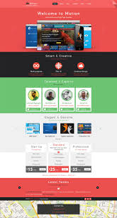 latest web page templates psd css author motion single page psd web template for