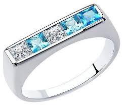 SOKOLOV <b>Кольцо с 5 фианитами</b> из серебра 94013104 — купить ...