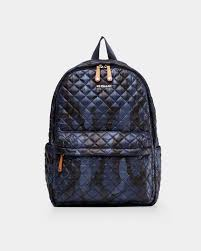 MZ Wallace Quilted <b>Dark Blue Camo</b> Metro Backpack | MZ Wallace ...