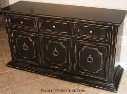 black distressed cabinet facelift furniture black painted furniture ideas
