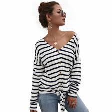 2019 <b>Diwish 2019 New Autumn</b> Women Thin Sweater Striped V ...