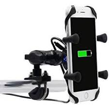 Motorader <b>Motorcycle X Grip</b> Mount with USB Port and Charging Lead