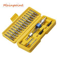 <b>20Pcs Half</b> Time Drill Driver <b>Bit</b> High Speed Steel Drill Header ...