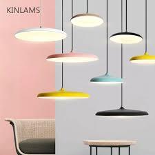 <b>Nordic colorful simple led</b> Pendant Light UFO Round Plate ...