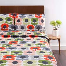 living room orla kiely multi: orla kiely s flower bedding tomato