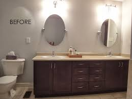 i did upgrade the storage with the builder added an additional sink deleted the ugly strip lighting that would have been provided and the large mirror basic bathroom strip