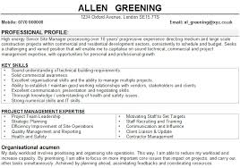 resume examples for site managers   resume builder retailresume examples for site managers site manager resume sample three builders resume construction manager cv samples
