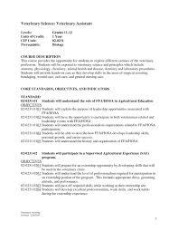 Download Veterinary Technician Resume Sample