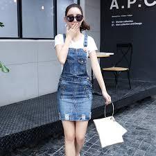 <b>Summer</b> Blue <b>Jean</b> Dresses For <b>Women Strap Denim</b> Dress ...