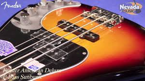 fender american deluxe p bass sunburst quick look