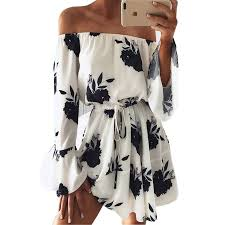 <b>LOSSKY Women Summer 2018</b> Beach Floral Boho Dress Loose ...