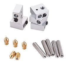 5pcs <b>Nozzle</b> Throat Tube 5pcs 0.4mm Brass <b>Extruder Nozzle</b> 5pcs ...