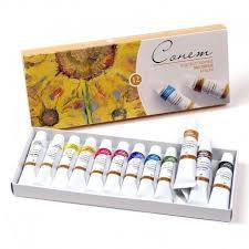 Масляные <b>краски Сонет</b> в <b>наборе</b> 12 цветов в тубах по 10 мл.