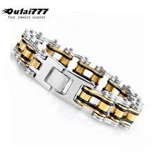 <b>oulai777 2019 stainless</b> steel gold men's bracelet man accesories ...