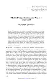 research paper pdf what is design thinking and why is it important