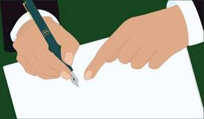 Hands Of A Businessman In A <b>Business Suit</b>, <b>Pen</b> Makes A ...