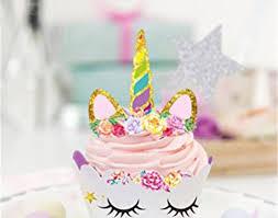 Free shipping <b>MEIDDING</b>-24pcs Birthday <b>Decoration Unicorn Party</b> ...