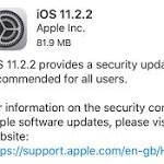 Apple iOS 11.2.2 has a Nasty Surprise