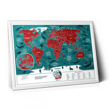 Скретч <b>карта</b> мира <b>1DEA</b>.<b>me</b> «<b>Travel Map</b> Marine World» NEW от ...