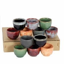 <b>Set</b> of <b>12 PCS</b>. <b>Japanese</b> Ceramic Sake Cup <b>Set</b> Assorted <b>Color</b> ...