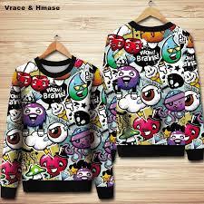 <b>European</b> style 3D cartoon pattern creative printing <b>fashion casual</b> ...