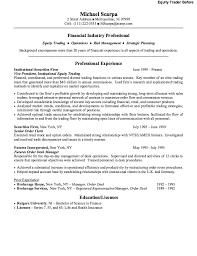 example design equity trader resume