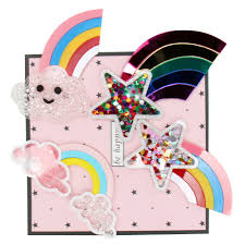 IBOWS Liquid <b>Quicksand</b> Patches Cute Rainbow Sequins Filled for ...