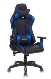 <b>Кресло</b> игровое <b>Бюрократ CH</b>-<b>778</b>/BL+BLUE две подушки черный ...