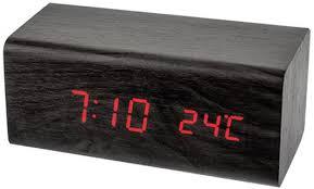"<b>Perfeo</b> LED часы-будильник ""<b>Block</b>"", чёрный корпус / красная ..."