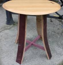 wine barrel top side table by jaycwoodworks on etsy arched napa valley wine barrel table