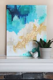 DIY Abstract <b>Art Canvas</b>