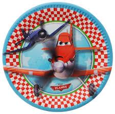 <b>Procos Тарелка</b> Самолеты 20 см 8 шт 1502-1216, цвет голубой ...
