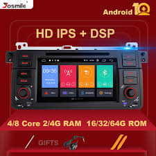 Josmile <b>1 Din Android 10</b> GPS Navigation For BMW E46 M3 Rover ...