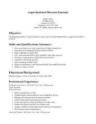 legal secretary cv example sample resume for inexperienced legal legal