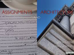 assignment brian croxall title slide that reads assignments and architecture a hand corrected print