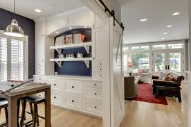 arts and crafts built ins home office traditional with silver pendant light bonus room white cabinetry arts crafts home office