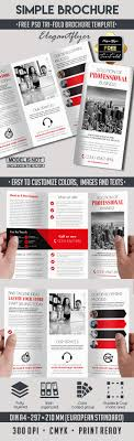 simple tri fold psd brochure template by elegantflyer simple tri fold psd brochure template