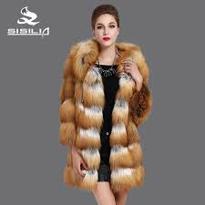 SISILIA 2016 New Red <b>Fox coats</b>,Genuine Leather,Big cap, <b>Fox</b> ...