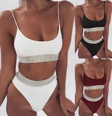 <b>Explosion models</b> 2019 Europe and America sexy high waist <b>bikini</b> ...