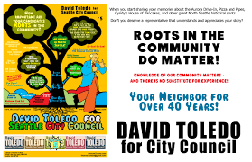 david toledo for seattle city council district 5 campaign flyers community roots matter 1
